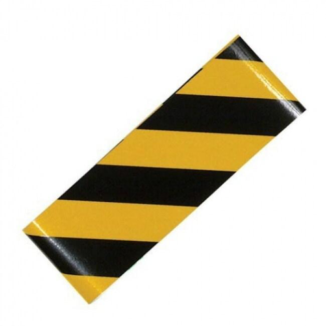 CH Hanson 55303 Self Adhesive Reflective Safety Tape, 2 x 24, Yellow/Black
