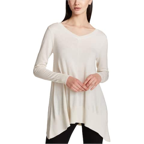 Dkny Womens Asymmetrical Hem Tunic Sweater