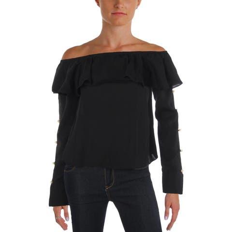 Aqua Womens Dress Top Party Off-The-Shoulder