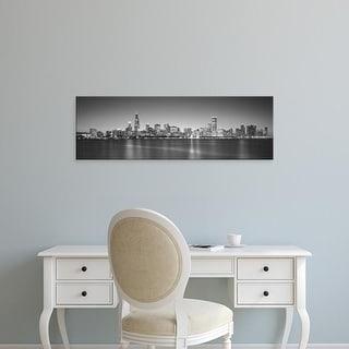 Easy Art Prints Panoramic Image 'Skyscrapers, Hancock Building, Lake Michigan, Chicago, Illinois' Canvas Art
