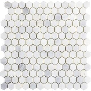 "Emser Tile M05WINT1212M1H Marble - 12"" x 12"" Hexagon Mosaic Multi-Surface Tile - - N/A"