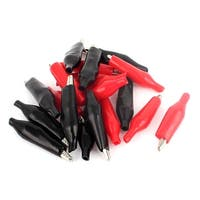 20Pcs Red&Black Cover 45mm Metal Alligator Clip for Testing Lead