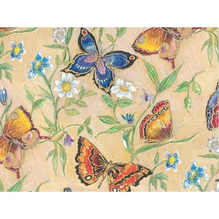 """Pack of 1, Butterflies 24"""" x 100' Gift Wrap Roll w/Floral & Classic Print Designs - Multicolor"""