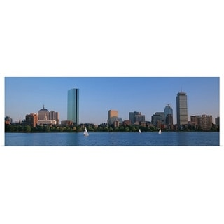"""Buildings at the waterfront, Back Bay, Boston, Massachusetts"" Poster Print"