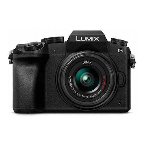 Panasonic LUMIX G7 Mirrorless Camera w/ 14-42mm f/3.5-5.6 Lens (Black)