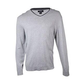 Alfani Men's Regular Fit Layered V-Neck Sweater - XXL