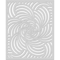 "Spiral Petals - Hero Arts Stencil 6.25""X5.25"""