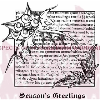 """Woodware Clear Stamps 3.5""""X3.5""""-Holly Script"""