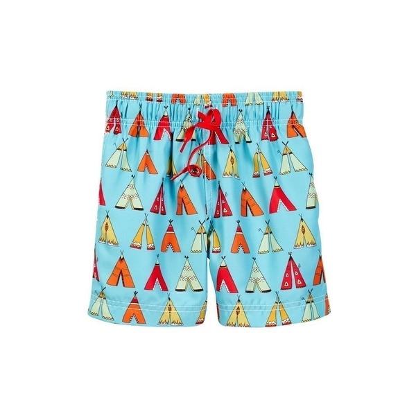 Azul Baby Boys Multi Color Little Teepee Drawstring Swim Shorts