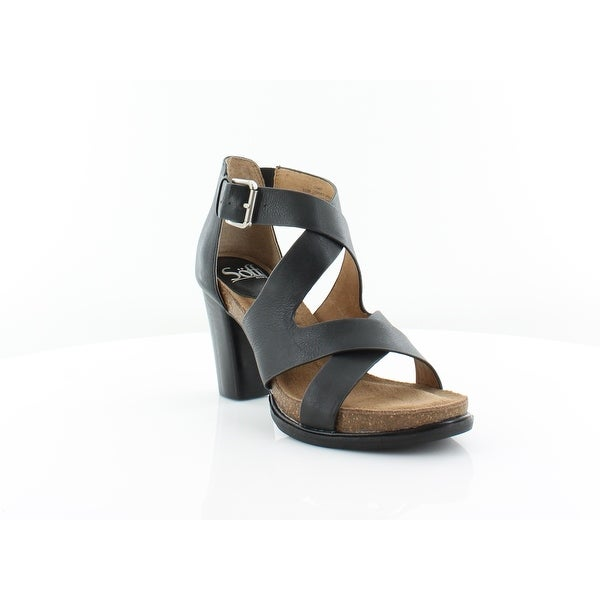 Sofft Canita Women's Sandals & Flip Flops Blacxk - 6