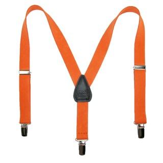 CTM® Kids' Elastic Solid Color Y-Back Clip-End Suspenders