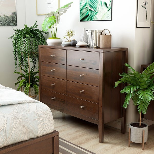Furniture of America Larc Transitional Solid Wood 8-drawer Chest