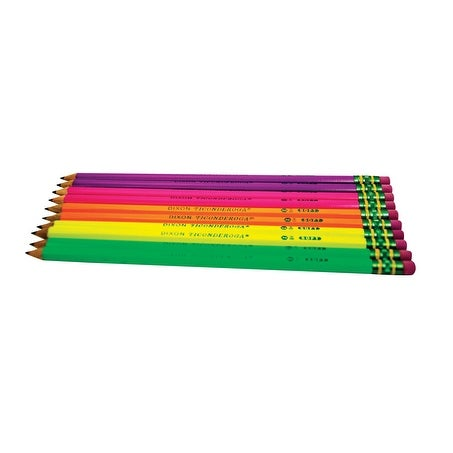Ticonderoga Non-Toxic Pencil Set, Neon, Set of 10