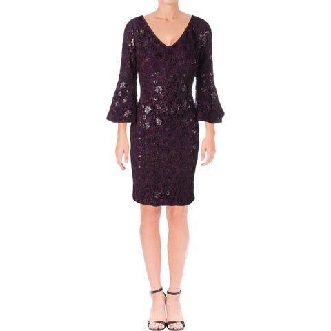 Lauren Ralph Lauren Womens Special Occasion Dress Party Bell Sleeve