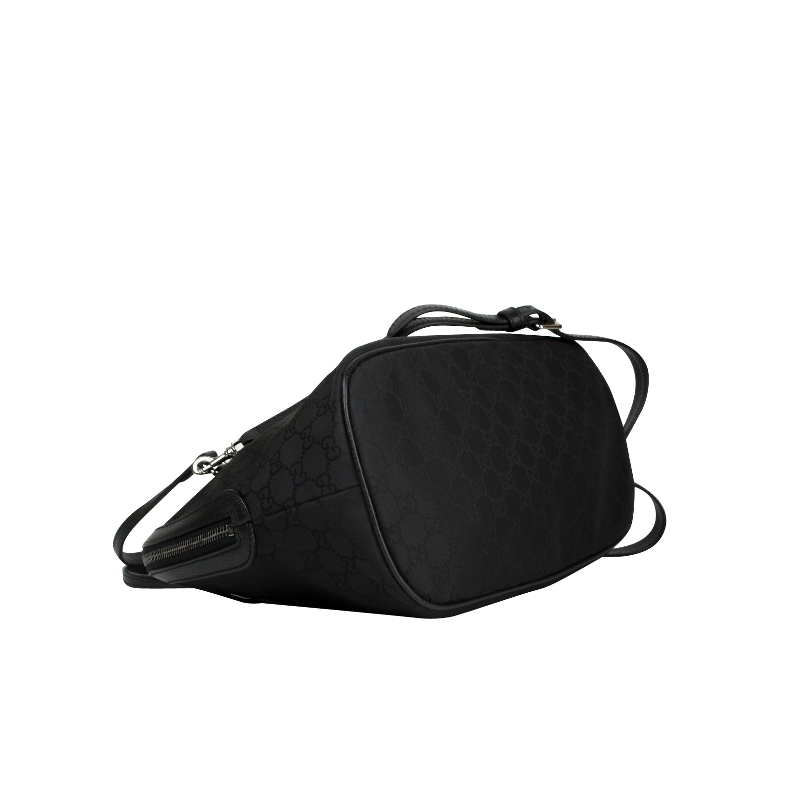 a5ddf894f Shop Gucci Dome Black Nylon Leather Guccissima with Trim Cross Body Bag  420023 1000 - One size - Free Shipping Today - Overstock - 27603229