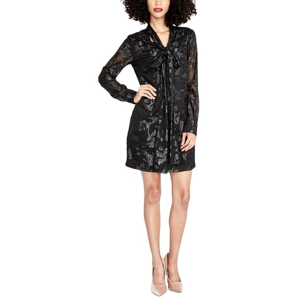 Rachel Roy Womens Party Dress Long Sleeves Mini