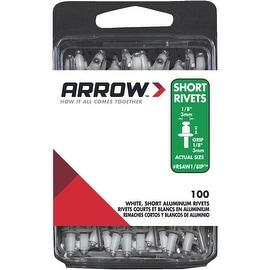 Arrow 1/8X1/8 Wht Alum Rivet