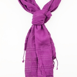 Link to Women Soft Casual Solid Color Scarf With Lurex Lining With Tassels On Two Sides Soft & Lightweight Scarves - 6 Colors Similar Items in Scarves & Wraps