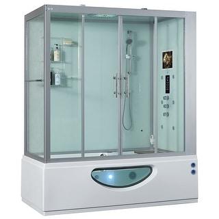 Maya Bath 2020 Catania Steam Shower Sauna Jetted Whirlpool Massage Jacuzzi Bathtub Spa with Bluetooth Phone & Smart TV