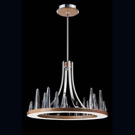 Eurofase Lighting 26372 Skyline 20 Light 1 Tier Chandelier with Solid Wood Base