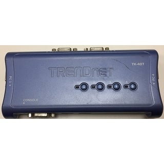 Trendnet Tk-407K Kvm Switch Box With Vga And Usb Connectors