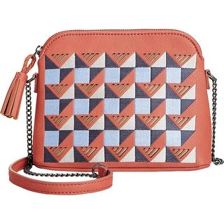 Danielle Nicole Womens Kingsley Crossbody Handbag Leather Mixed Media - small