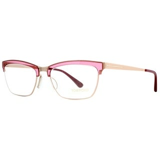 Tom Ford TF 5392 071 Red/Pink/Gold Women's Cat eye Eyeglasses 54mm - Red/Gold - 54mm-18mm-135mm
