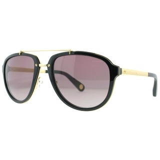 Marc Jacobs MJ 515/S OTP PB Gold Black/Brown Gradient Aviator Sunglasses - Black Gold - 56mm-21mm-145mm