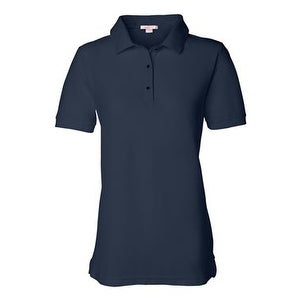 FeatherLite Women's Pique Sport Shirt - Navy - 2XL