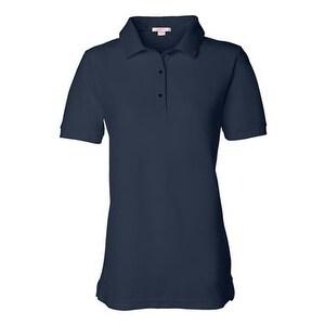FeatherLite Women's Pique Sport Shirt - Navy - 3XL