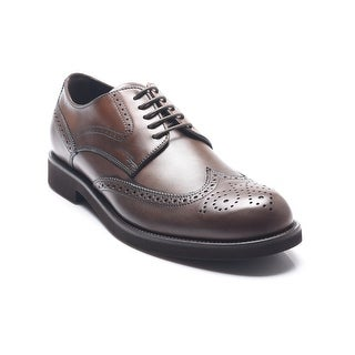 Tod's Men's Leather Lace-Up Oxford Shoes Brown