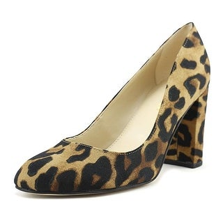 Marc Fisher Womens Isabelle 3 Closed Toe Classic Pumps - leopard natural fabric