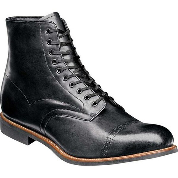 78ee6a5bb6b Stacy Adams Men's Madison Cap Toe Boot Black Kidskin Leather