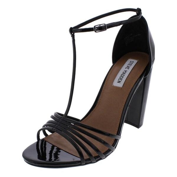 Steve Madden Womens Carmelaa Dress Sandals Open Toe T-Strap