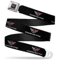 Corvette C5 Logo Full Color Black Gray White Red Corvette C5 Logo Black Seatbelt Belt