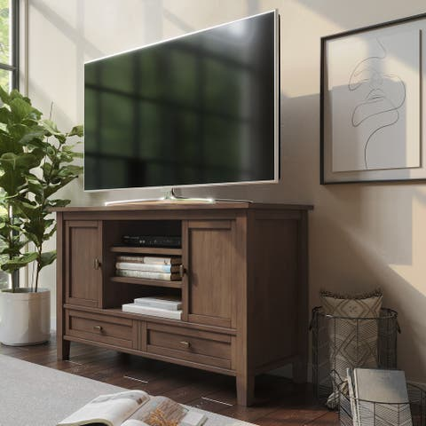 WYNDENHALL Norfolk SOLID WOOD 47 inch Wide Transitional TV Media Stand For TVs up to 50 inches