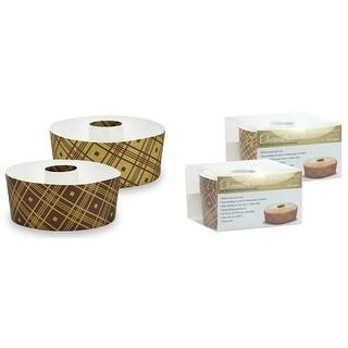 "5"" Round Tube Baking Pans, Small - Plaid - 4-Packs - Hanna K."