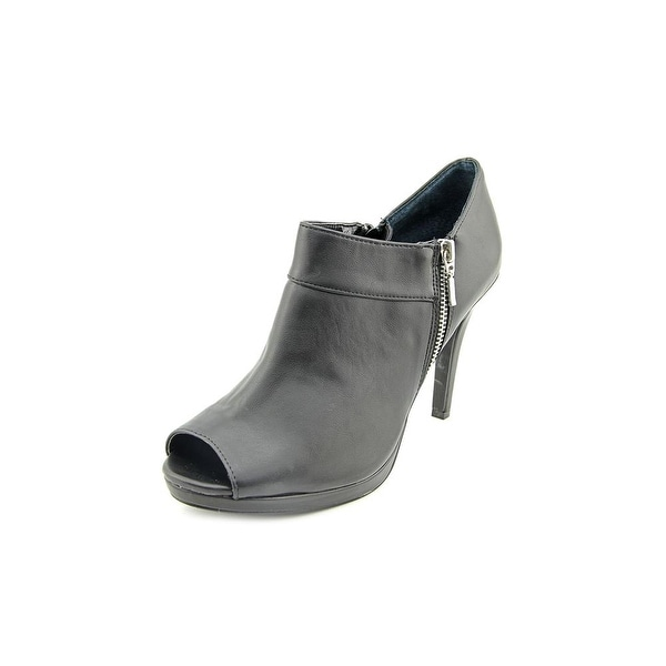Style & Co Tayner Peep-Toe Synthetic Ankle Boot