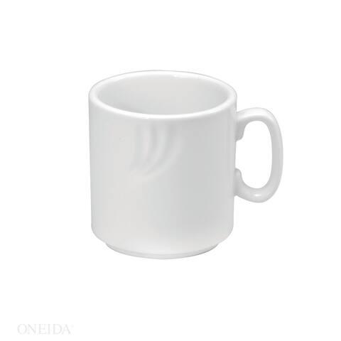 Oneida Briana Porcelain Stackable Mugs 8 oz (Set of 36)