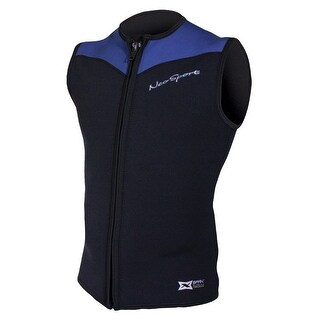 NeoSport 2.5mm X-Span Front Zip Sports Vest - Black/Blue