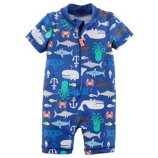 Carter's Baby Boys' 1-Piece Rashguard, 6 Months - Blue Sea