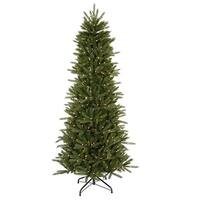 9.5' Pre-Lit Slim Vermont Fir Instant Shape Artificial Christmas Tree - Clear