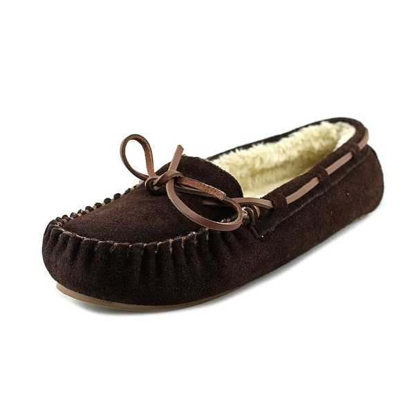 Blitz Molly Women Moc Toe Suede Brown Slipper