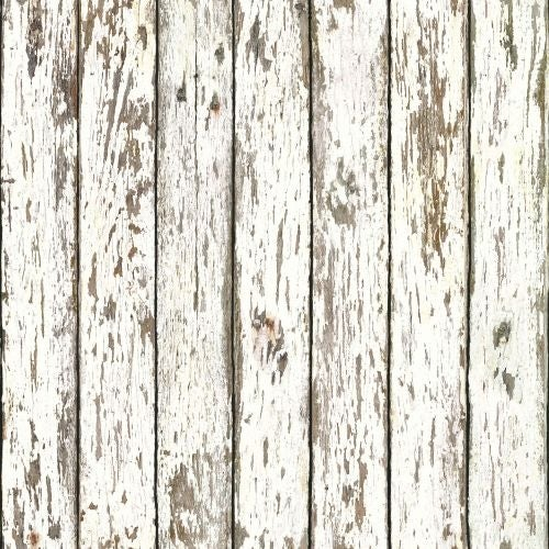 Brewster FFR13281 White Weathered Wood Wallpaper