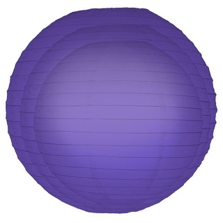 Pack of 6 Traditional Bright Purple Garden Patio Round Chinese Paper Lanterns