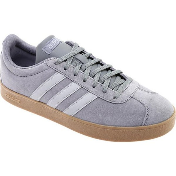 966db830a193 Shop adidas Men s Vl Court 2.0 Trainer Grey Three Grey Two Gum ...