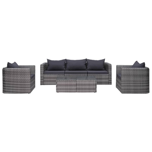 vidaXL 7 Piece Garden Sofa Set with Cushions & Pillows Gray. Opens flyout.