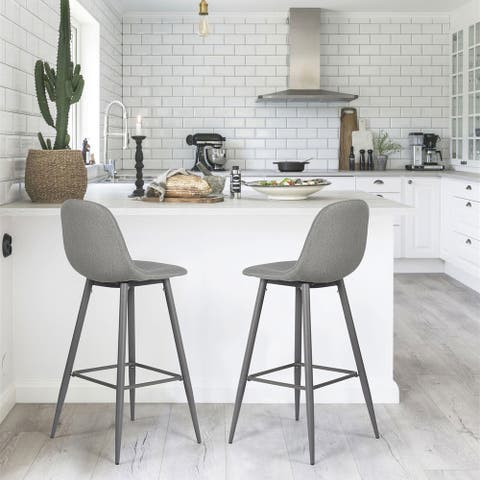 Set of 2 Moorcroft Bar & Counter Grey Stool