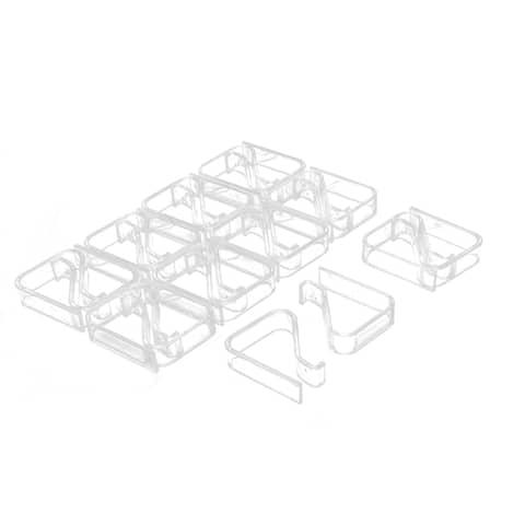 Unique Bargains Kitchen Table Cloth Cover Plastic Clip Clamp Holder 2-3.5cm Thickness 20pcs