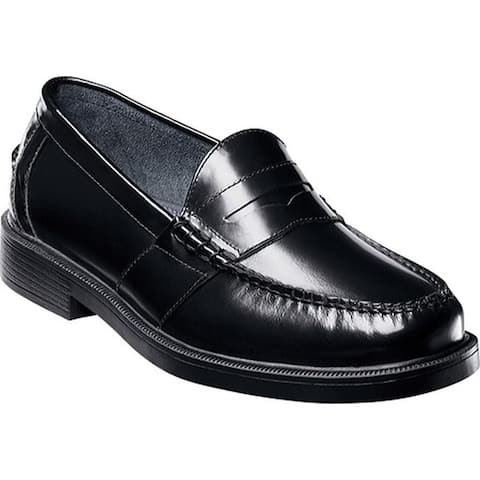 Nunn Bush Men's Lincoln Penny Loafer Black Polish Leather